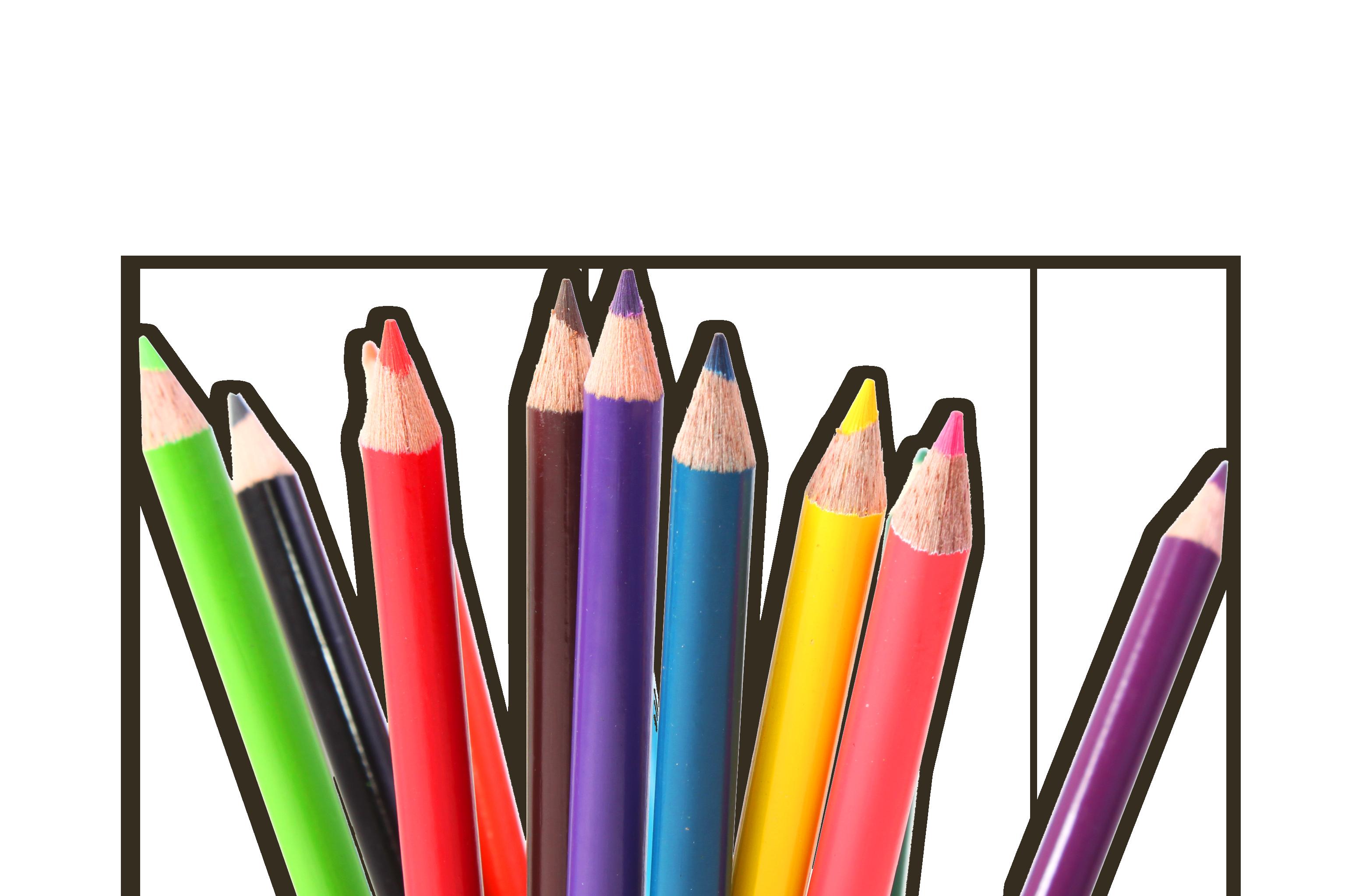Kleurpotloden kleuren