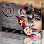 Salon bb flyer ontwerp