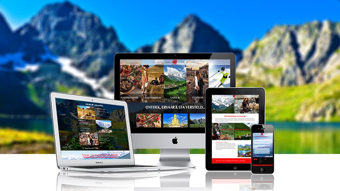 webdesign georgian adventure, webdesign eindhoven, webdesign valkenswaard, website laten maken eindhoven